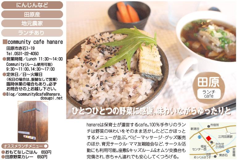 田原市 community cafe hanare