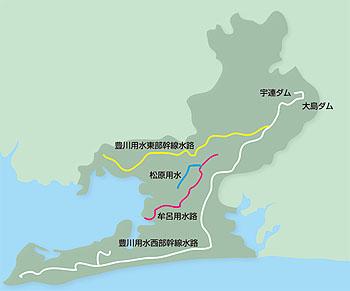 東三河の豊川用水の水源
